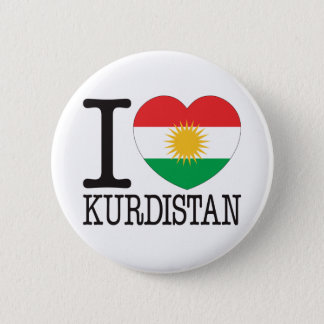 Kurdistan Love v2 6 Cm Round Badge