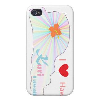 Kuri Hawaii I love Hawaii iPhone 4 Cases