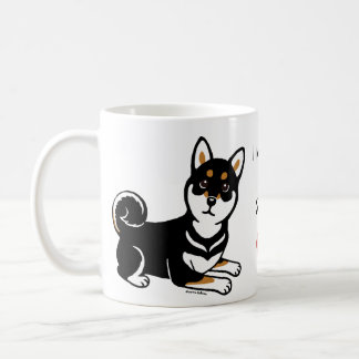 Kuro Shiba Inu dog cartoon Coffee Mug