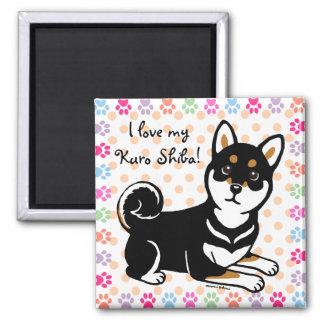 Kuro Shiba Inu dog cartoon Magnet