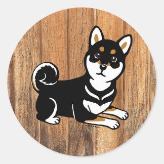 Kuro Shiba Inu dog cartoon Sticker