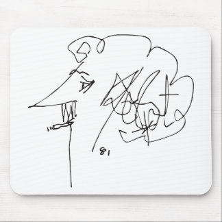Kurt Vonnegut Self-Portrait Mouse Pad