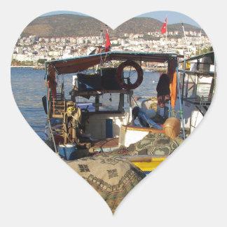 Kusadasi Fishing Harbor Heart Sticker