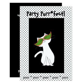 Kute Kitty Halloween Party Invitations