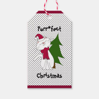 Kute Kitty Purr*fect Christmas Gift Tag