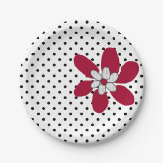 Kute Kitty Purr*fect Flower Paper Plate 7 Inch Paper Plate