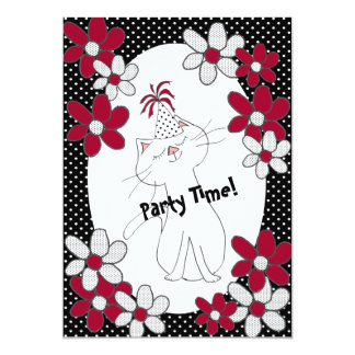 Kute Kitty Purr*fect Party Invitations