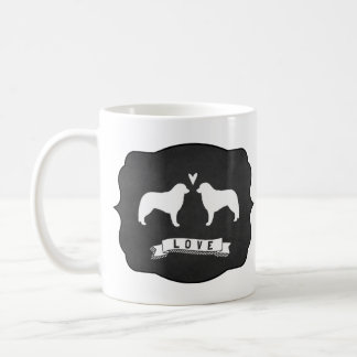 Kuvasz Silhouettes Love Coffee Mug