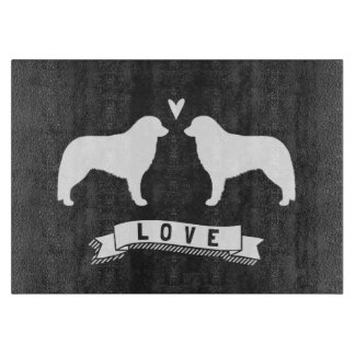 Kuvasz Silhouettes Love Cutting Board