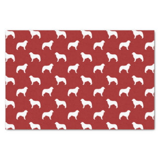 Kuvasz Silhouettes Pattern Red Tissue Paper