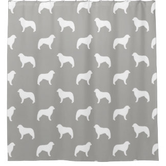 Kuvasz Silhouettes Pattern Shower Curtain