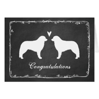 Kuvasz Silhouettes Wedding Congratulations Card
