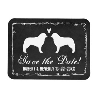 Kuvasz Silhouettes Wedding Save the Date Magnet