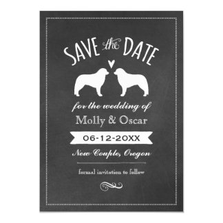 Kuvasz Silhouettes Wedding Save the Date Magnetic Card