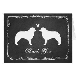Kuvasz Silhouettes Wedding Thank You Card
