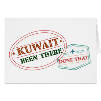 Kuwait Been There Done That Card