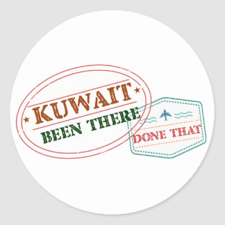 Kuwait Been There Done That Classic Round Sticker