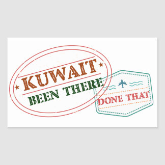 Kuwait Been There Done That Rectangular Sticker