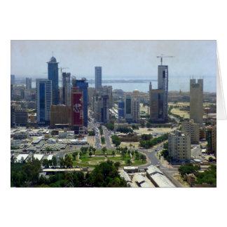 Kuwait City, bird eye view Card