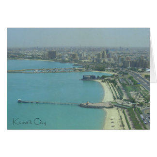 Kuwait City - birdeye view Card