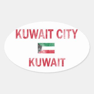 Kuwait City Kuwait designs Oval Sticker
