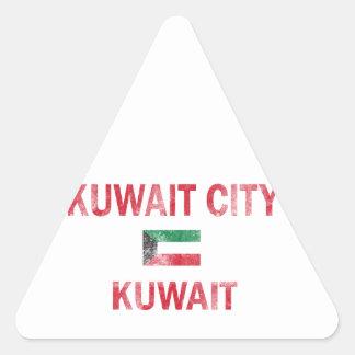 Kuwait City Kuwait Designs Triangle Sticker