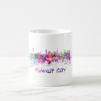 Kuwait City skyline in watercolor Coffee Mug