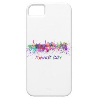 Kuwait City skyline in watercolor iPhone 5 Cover