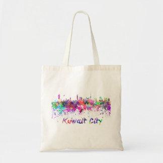 Kuwait City skyline in watercolor Tote Bag