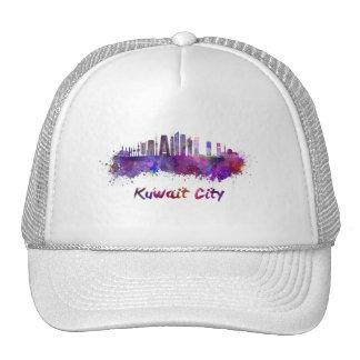 Kuwait City V2 skyline in watercolor Cap