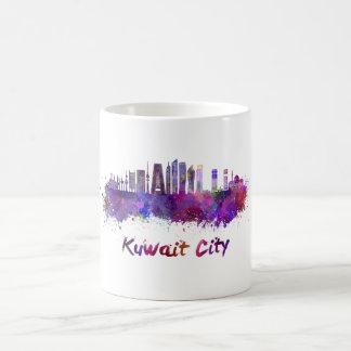 Kuwait City V2 skyline in watercolor Coffee Mug