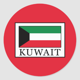 Kuwait Classic Round Sticker