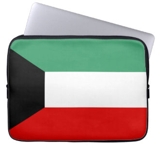 Kuwait country long flag nation symbol republic computer sleeves