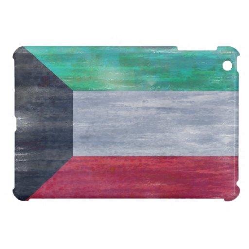 Kuwait distressed flag iPad mini cover
