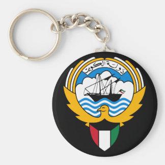kuwait emblem basic round button key ring