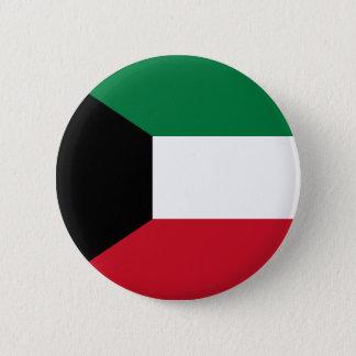 Kuwait Flag 6 Cm Round Badge