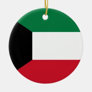 Kuwait Flag Ceramic Ornament