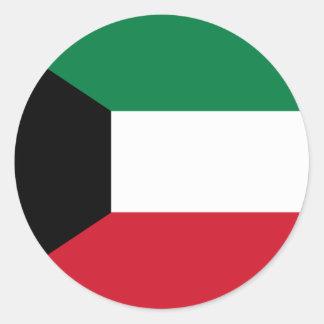 Kuwait Flag Classic Round Sticker