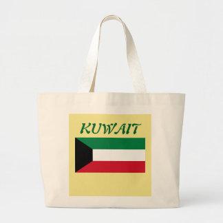 Kuwait Flag Custom Tote Bag