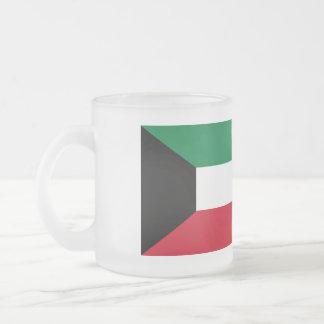 Kuwait Flag Frosted Glass Coffee Mug