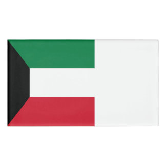 Kuwait Flag Name Tag