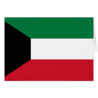 Kuwait Flag Note Card