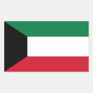 Kuwait Flag Rectangular Sticker