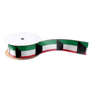 Kuwait Flag Satin Ribbon
