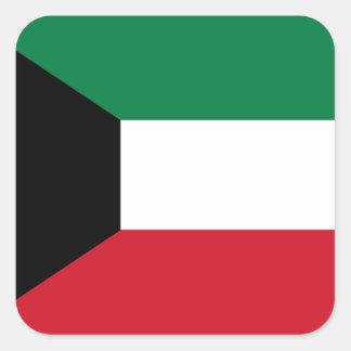 Kuwait Flag Square Sticker