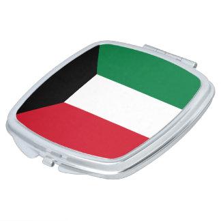 Kuwait Flag Travel Mirror