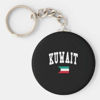 KUWAIT BASIC ROUND BUTTON KEY RING