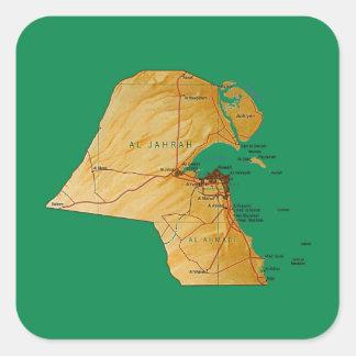 Kuwait Map Sticker