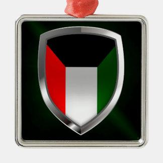 Kuwait Metallic Emblem Metal Ornament