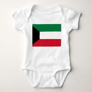 Kuwait National World Flag Baby Bodysuit
